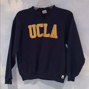 UCLA sweatshirt embroidered letters no hood